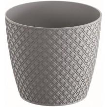 Prosperplast ORIENT Květináč 18,9 cm, šedý kámen DOR190