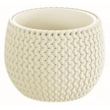 PROSPERPLAST SPLOFY Bowl květináč 18 cm, krémová DKSP180