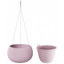 PROSPERPLAST SPLOFY Bowl WS závěsný květináč 29 cm, růžová DKSP290WS
