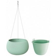 PROSPERPLAST SPLOFY Bowl WS závěsný květináč 37 cm, zelená DKSP370WS