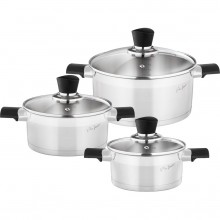 LAMART COOKY LT1109 nádobí set 6 ks nerez/sklo 42002263