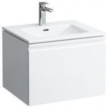 LAUFEN PRO S Umyvadlo se skříňkou 60 cm, s vnitřní zásuvkou, bílá mat 8.6096.2.463.104.1