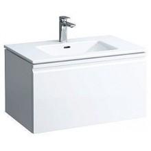 LAUFEN PRO S Umyvadlo se skříňkou 80 cm, s vnitřní zásuvkou, bílá mat 8.6096.4.463.104.1