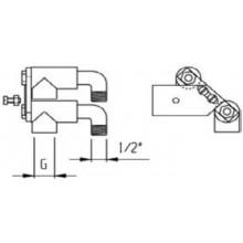 LAUFEN Připojovací prvky G1/2 pro vanovou 4i5-ti otvorovou baterii, instalace do soklu