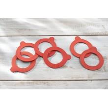 LEIFHEIT 6 dílný set náhradních gumiček ke sklenici 255 a 370 ml 03215