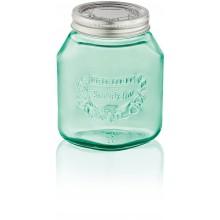 LEIFHEIT Set 3 ks zavařovacích sklenic 1 l jungle green 36328