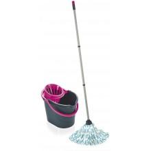 LEIFHEIT Podlahový Classic Mop Set - grey pink, blue, lagoon 55261