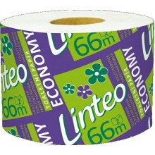 LINTEO ECONOMY Toaletní papír solorolička 66m, bělený, 2-vrstvý 20633