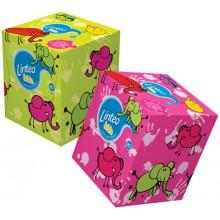 LINTEO KIDS Papírové kapesníky BOX 80ks, bílé, 2-vrstvé 30041