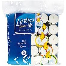 LINTEO SATIN Čajové svíčky 100ks, bílé 14804