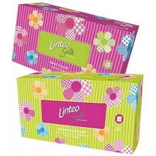LINTEO SATIN Papírové kapesníky BOX 200ks, bílé, 2-vrstvé 30096