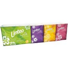 LINTEO SATIN Papírové kapesníky mini 10x10ks, bílé, 3-vrstvé 301030