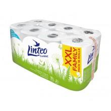 LINTEO Toaletní papír 16 rolí, bílý, 2-vrstvý 20681
