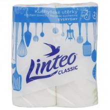LINTEO Kuchyňské utěrky 2 role, bílé, 2-vrstvé 600470
