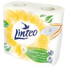 LINTEO Toaletní papír heřmánek, 4 role, bílý, 3-vrstvý 20629