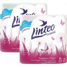 LINTEO Toaletní papír 4 role, růžový, 2-vrstvý 206570