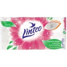 LINTEO Toaletní papír 8 rolí, bílý, 2-vrstvý 20678