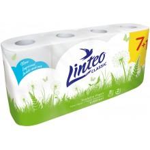 LINTEO Toaletní papír 8 rolí, bílý, 2-vrstvý 20710