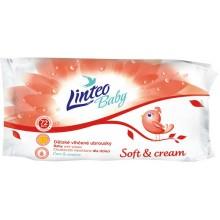 LINTEO BABY Vlhčené ubrousky Soft and Cream 72ks, 1-vrstvé 25751