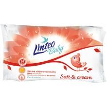 LINTEO BABY Vlhčené ubrousky Soft and Cream 24ks, 1-vrstvé 257511