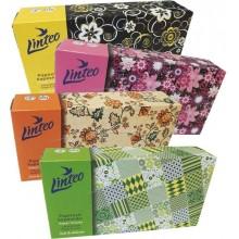 LINTEO SATIN Papírové kapesníky BOX 100ks, bílé, 2-vrstvé 3003