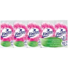 LINTEO Papírové kapesníky 10x10ks, bílé, 3-vrstvé 30103