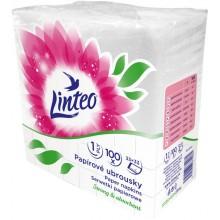 LINTEO Papírové ubrousky 33x33cm, bílé, 1-vrstvé 40191