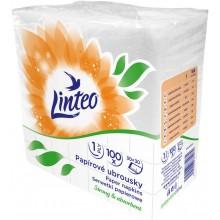 LINTEO Papírové ubrousky 30x30cm, bílé, 1-vrstvé 4057