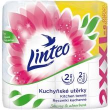 LINTEO SATIN Kuchyňské utěrky XXL, 2 role, bílé, 2-vrstvé 60045