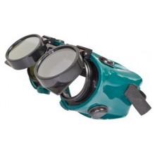 Ochranné svářečské brýle - odklápěcí kruhové zorníky, tmavost skla DIN5 OB159