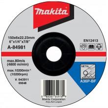 MAKITA A-84981 brusný kotouč 150x6x22mm ocel