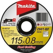 MAKITA B-45727 řezný kotouč 115x0,8x22mm nerez
