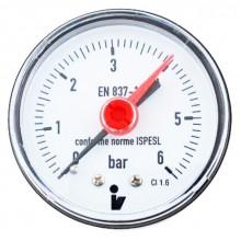 Manometr 0-6 bar zadní D63