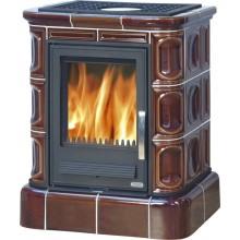 ABX Marina L Kachlová kamna na dřevo s lit. vložkou, výměníkem, kachlový sokl, písková