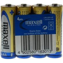 MAXELL Alkalické tužkové baterie LR6 4S ALK 4x AA (R6) SHRINK 35044015