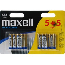 MAXELL Alkalické tužkové baterie LR03 10BP ALK 10x AAA 35048787