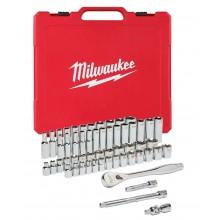 Milwaukee 4932464946 Sada ráčny 3/8 a metrických a coulových nástrčných klíčů 56 ks