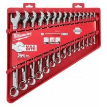 Milwaukee 4932464996 Sada kombinovaných klíčů MAX BITEs coulovými mírami (15 ks)