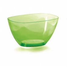 PROSPERPLAST COUBI Mísa 19,8 cm, zelená transparentní DUMS200P