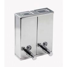 SANELA Nerezový dávkovač tekutého mýdla SLZN 04 dvojdílný, obsah 1 l, lesklý 95040
