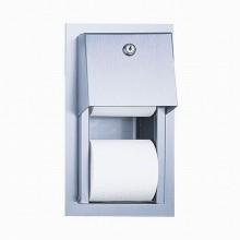 SANELA Nerezový zásobník na toaletní papír SLZN 26Z, pod omítku, matný 95261