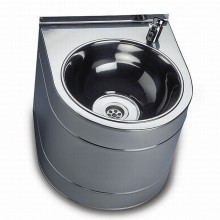 SANELA Nerezová pitná fontánka SLUN 14 závěsná s tlačnou armaturou 93140
