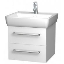INTEDOOR NORDIC koupelnová skříňka 55 cm, závěsná s umyvadlem, bílá NR 55 01