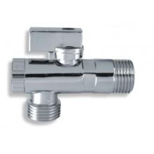 NOVASERVIS rohový ventil s s kovovou pákou M,filtrem a krytkou 1/2x3/8 CF3004/10M