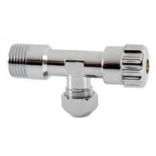"""NOVASERVIS rohový vřetenový ventil s matkou 3/8"""" chrom CF3002/10"""
