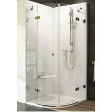 RAVAK Brilliant BSKK4-90 čtvrtkruhový sprchový kout, chrom+transparent 3U277A00Y1