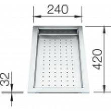 BLANCO odkapávací deska Supra, Zerox 420x240mm 219650