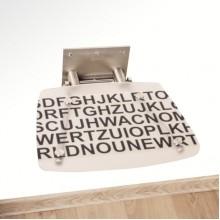 RAVAK Sprchové sedátko OVO-B Text černá písmena B8F0000030