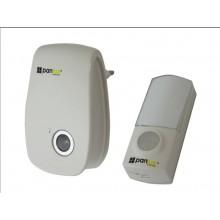 PANLUX ZVONEK bezdrátový 32melodií, bílý s transparentními komponenty H-228/T