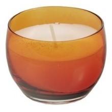 PAPSTAR Svíčka ve skleničce, oranžová